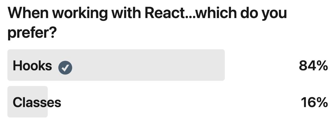 Developers Love Hooks Poll