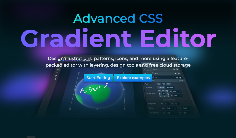 Advanced CSS Gradient Editor