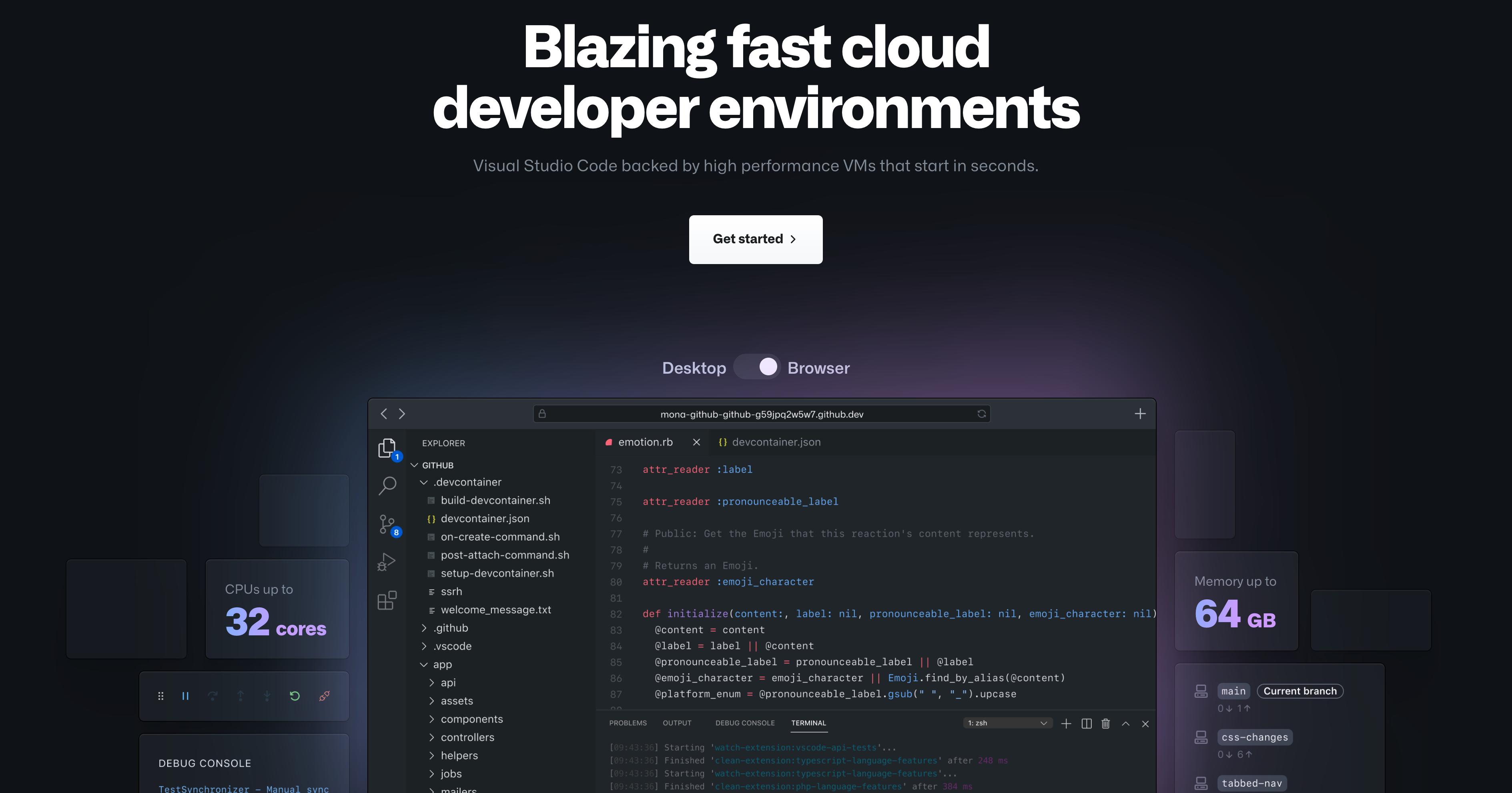 Github CodeSpaces image