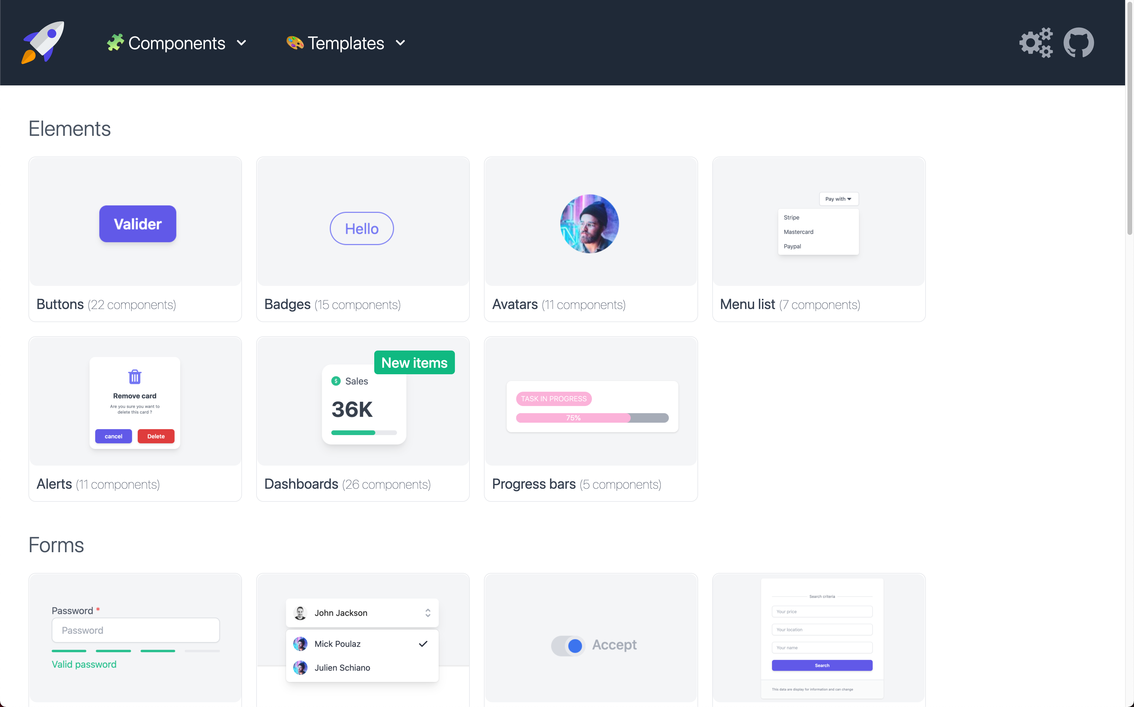 Tailwind Kit - UI Components for Tailwind CSS image