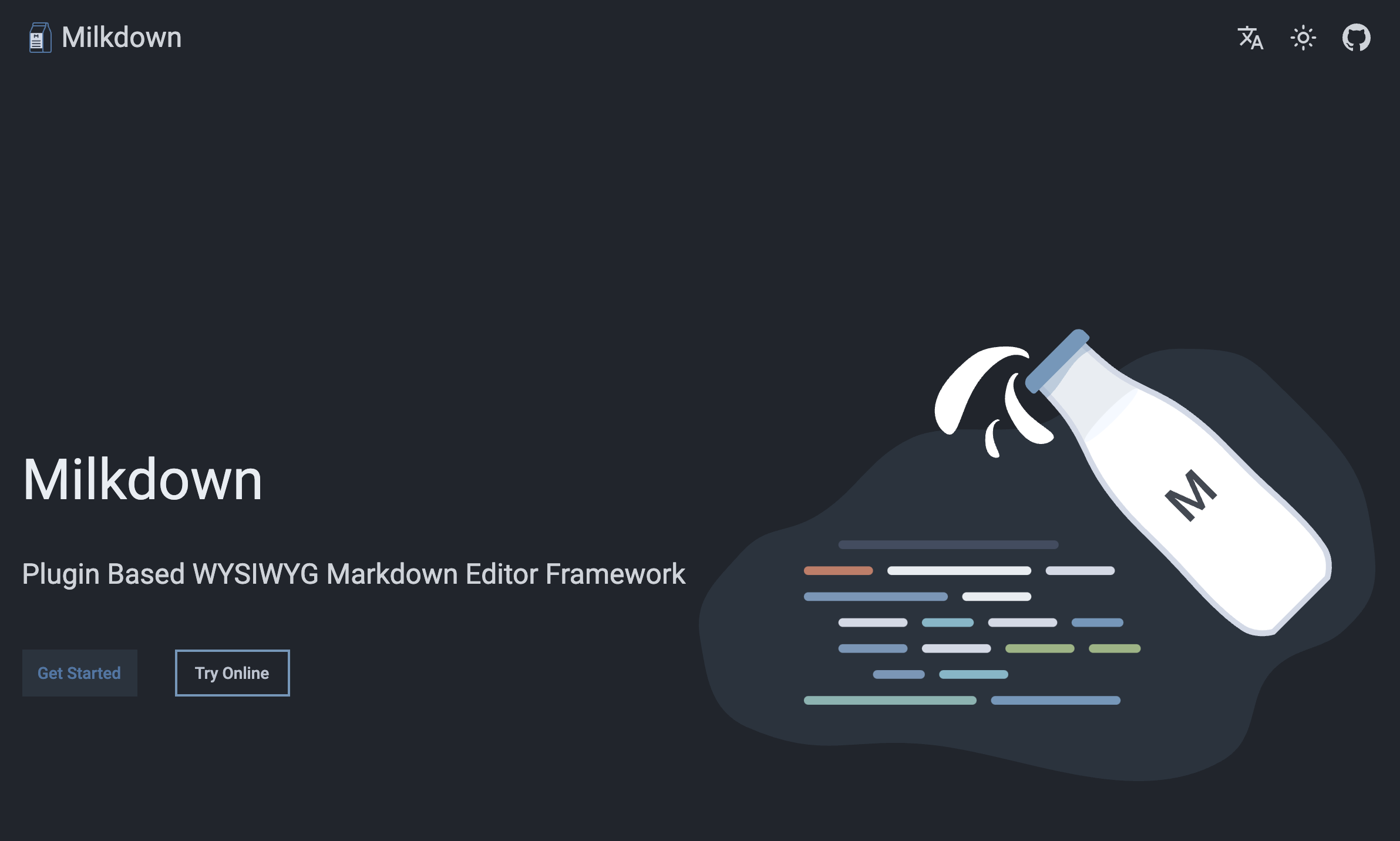 MilkDown-Pluggable Markdown Editor image