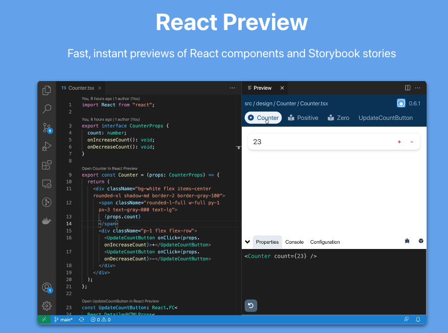 React Preview image